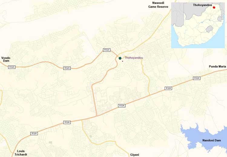 Thohoyandou map