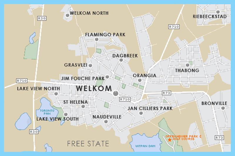 Welkom street map
