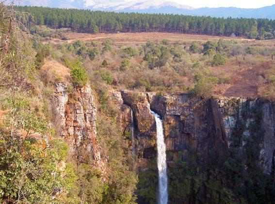 Beautiful waterfall in South Africa